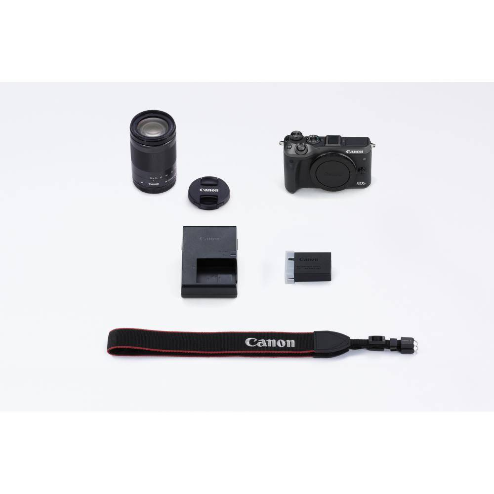 Canon EOS M6 Mirrorless Digital Camera with 18-150mm Lens Kit - Black
