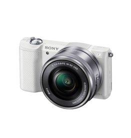 Sony Alpha a5000 ILCE5000L/W appareil photo avec 16-50mm objectif- Blanc