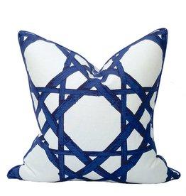 "Coastal Home Pillows Royal Cane Pillow-Marine 22"""