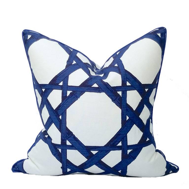 Royal Cane Pillow-Marine