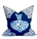 "Coastal Home Pillows Imari Pillow-Marine 22"""