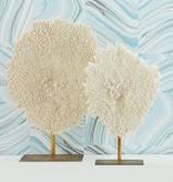 White Faux Coral Sculpture-Large