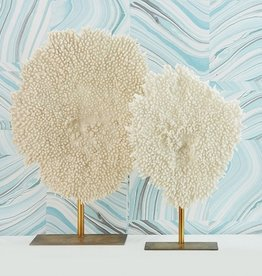 White Faux Coral Sculpture-Small