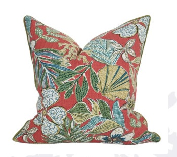Biscayne Collection Shell Garden Pillow 22x22