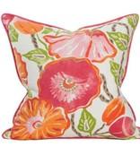 Coastal Home Pillows Palm Beach Collection Poinciana Pillow / IVORY 22x22