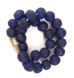 Sea Glass Beads - Cobalt