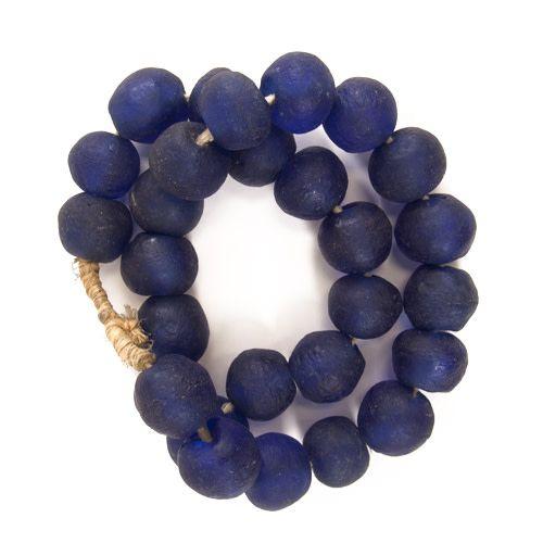 Sea Glass Beads - Cobalt