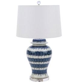 Blue & White Drip Table Lamp