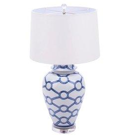 Blue & White Crossing Circle Lamp