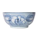 Blue & White Silla Bowl Twisted Flower