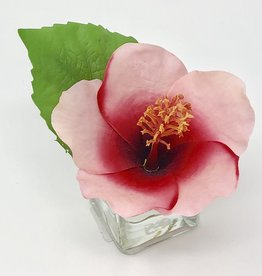 Hibiscus Votive-Faux Water (Pink Red)