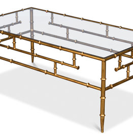 Faux Bamboo Metal Coffee Table
