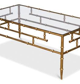 Faux Bamboo Metal Coffee Table