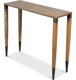 Iron Console Table Wheat