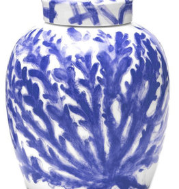 Small Blue Coral Vase