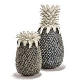 Pineapple White and Blue Sculpture/Vase - Small
