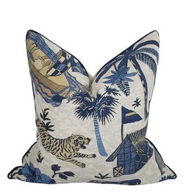 Island Colony Indigo Pillow
