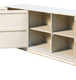 Louvered Cabinet, White