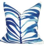 Palm Frond Pillow-Ocean