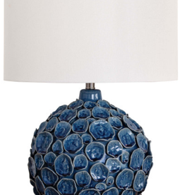 Lucia Ceramic Table Lamp-Blue