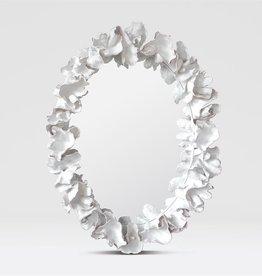 Coco Mirror - White Faux Coral