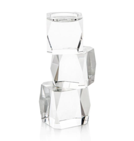 Crystal Cubist Candleholder  (Small)