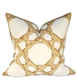 Cane Pillow-Gold
