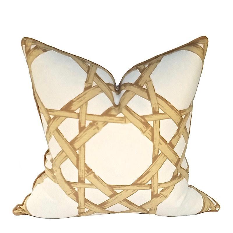 Cane Pillow-Gold