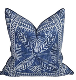 Batik Tile Pillow-Indigo