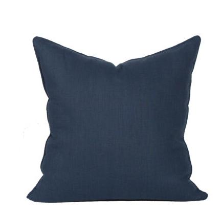 Compliment Linen Pillow-Navy
