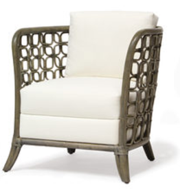 "Hitch Lounge Chair Elm Grey Finish in Linen Bisque (B) 29.5""w x 31.5""dp x 31""h Seat: 18""h"
