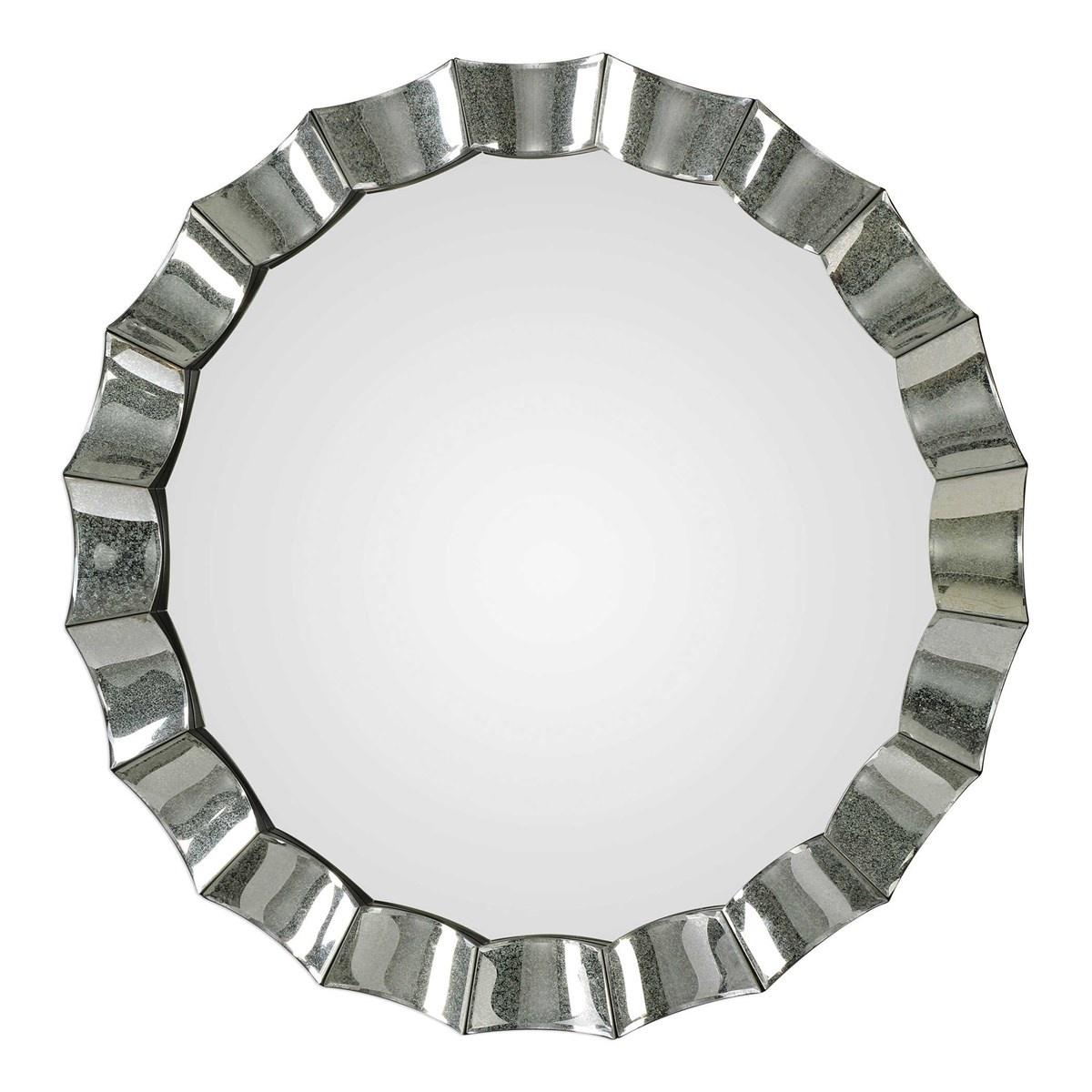 Sabino Round Silver Mirror