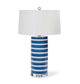 Ceramic Striped Column Lamp