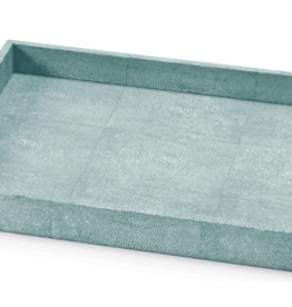Shagreen Rectangle Tray-Sea