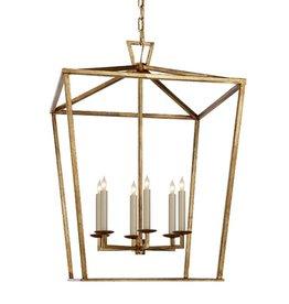 Darlana Lantern-Large in Gilded Iron