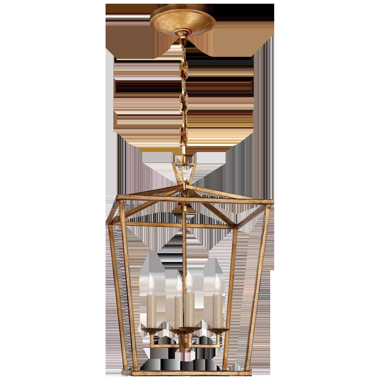 Darlana Lantern-Small in Gilded Iron