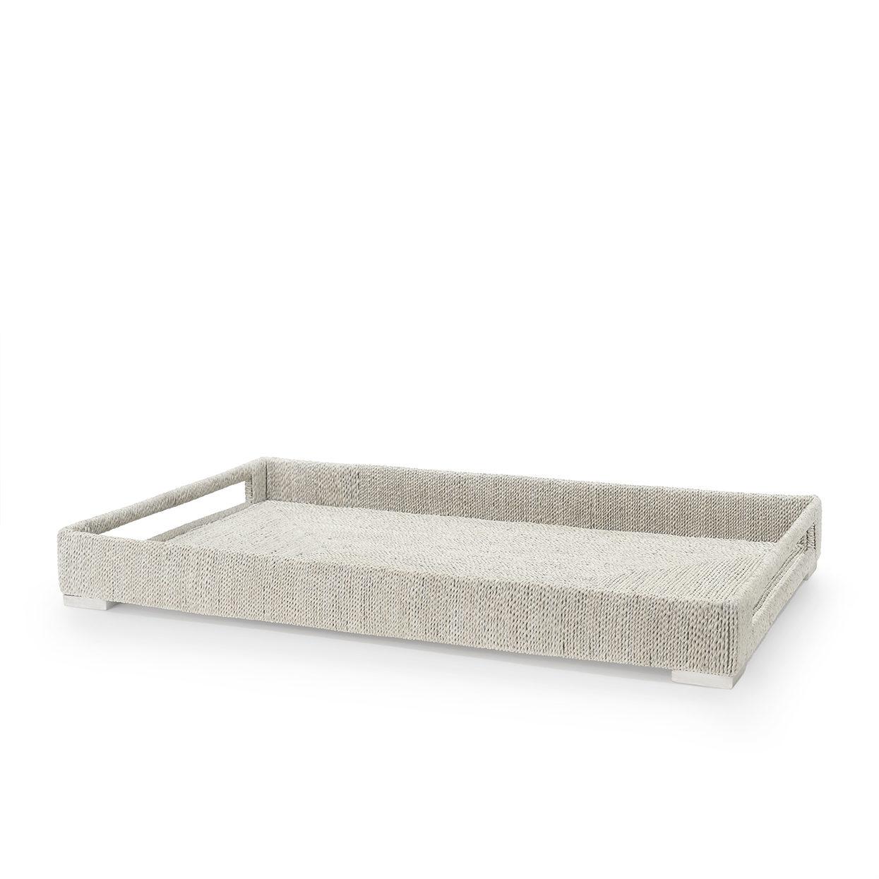 Woodside Rectangular Tray, White Sand-Large