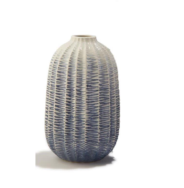 Zig Zag Ombre Globe Vase-Large