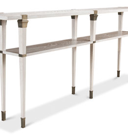 Boulevard Console Table-Whitewash White