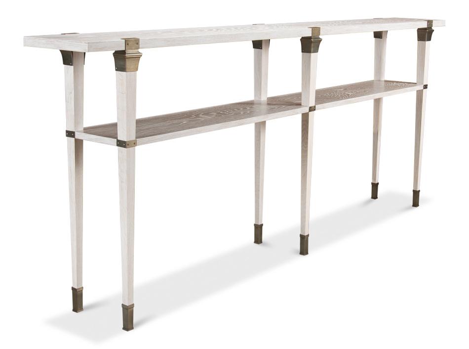 Boulevard Console Table-Whitewash White