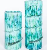 Small Swirl Vase in Lake Como Finish 7 x 7 x 13