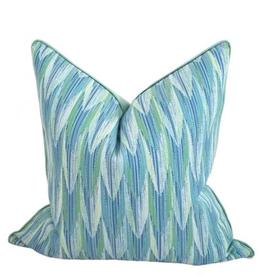 Palm Beach Collection Flame Pillow/Cyan