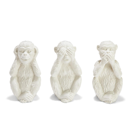 "No Evil Monkeys  9""H- Set of 3"