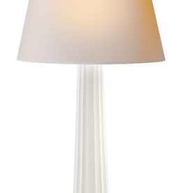 Large Fluted Spire Table Lamp - White