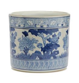 Blue/White Lotus Flower Vase Planter-LF