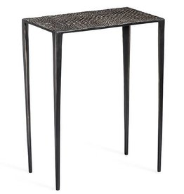 Axel Rectangular Croc Table-Bronze