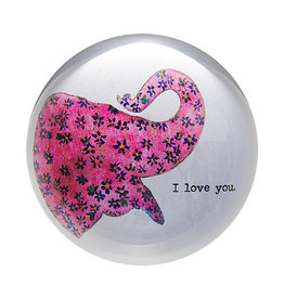 I Love You Elephant Paperweight