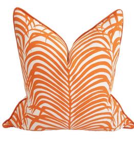 Zebra Palm Pillow-Papaya