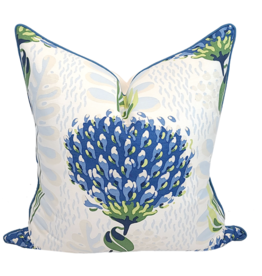 Thistle Pillow-Blue