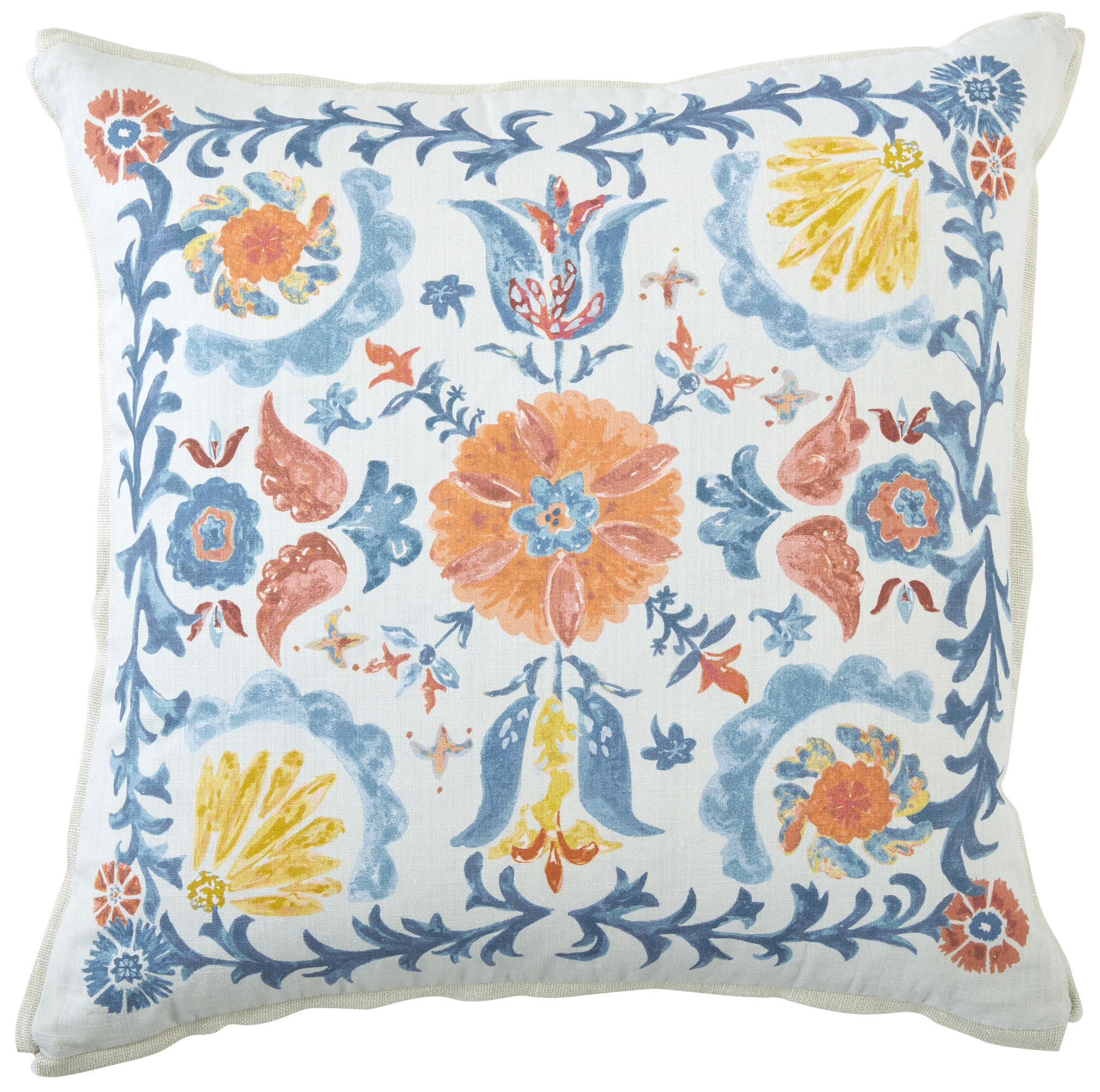 Suze Sunset Pillow with Butterfly Corner